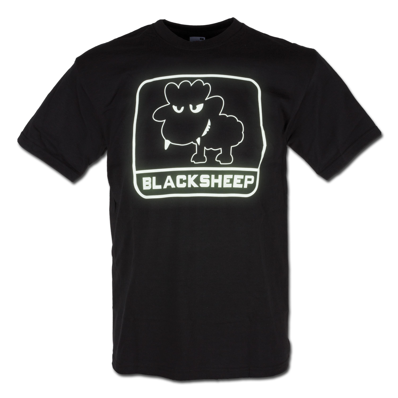 T-Shirt Little BlackSheep nachleuchtend