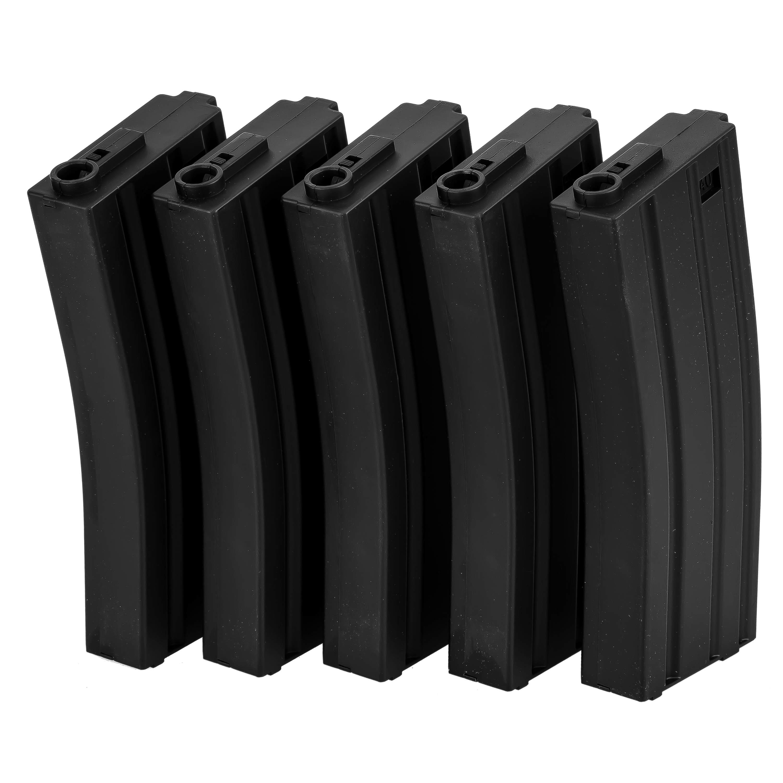 Specna Arms Ersatzmagazinset Mid-Cap 100 Schuss 5er Set schwarz