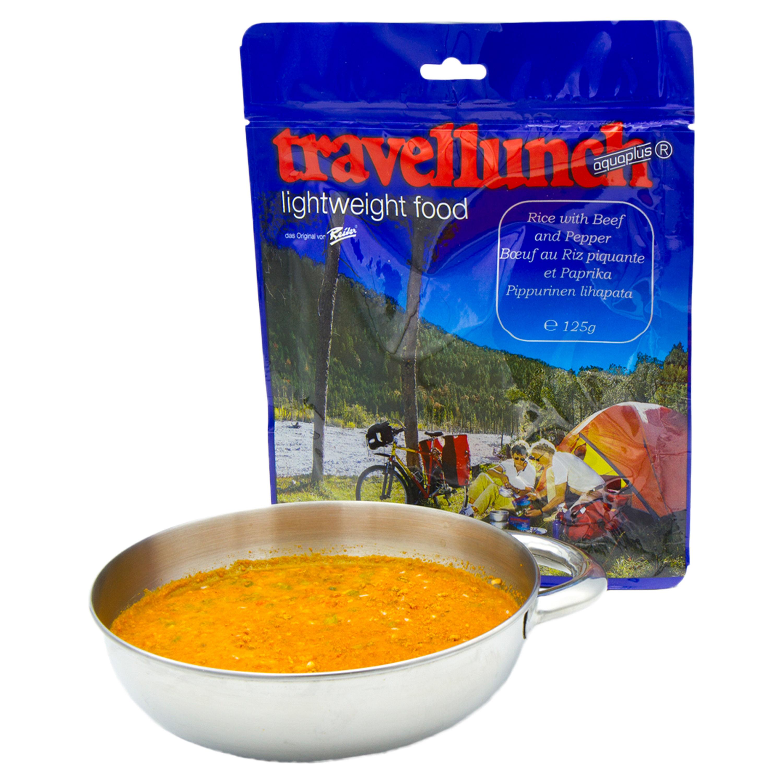 Travellunch Reis mit Rindfleisch und Paprika