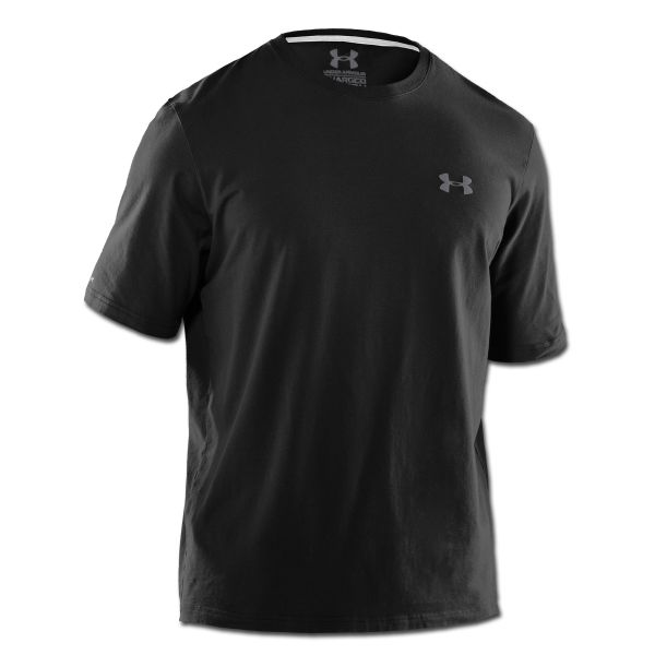 Under Armour T-Shirt Charged Cotton schwarz