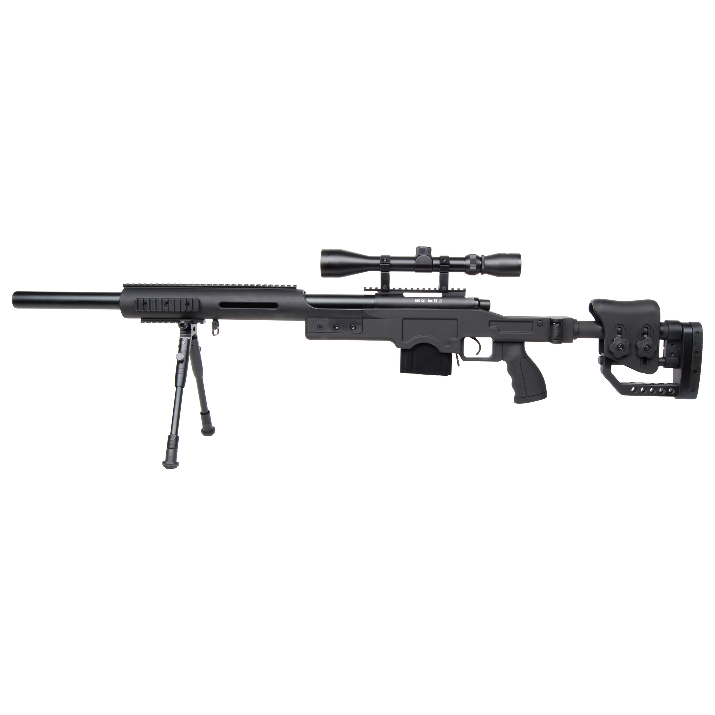 GSG Airsoft 4410 Sniper Set Federdruck 1.7 J schwarz