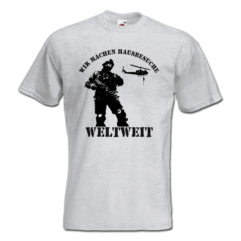 T-Shirt Hausbesuche II grau
