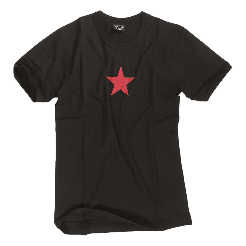 US T-Shirt RED STAR schwarz