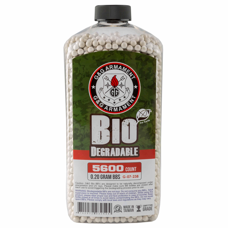 G&G Bio Airsoft BBs 6 mm 0.2 g 5600 Stück weiß
