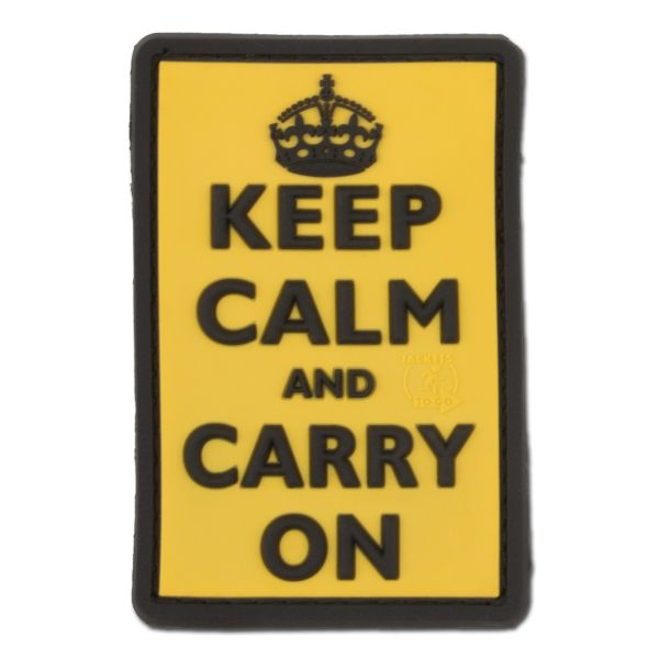 3D-Patch Keep Calm and Carry on gelb