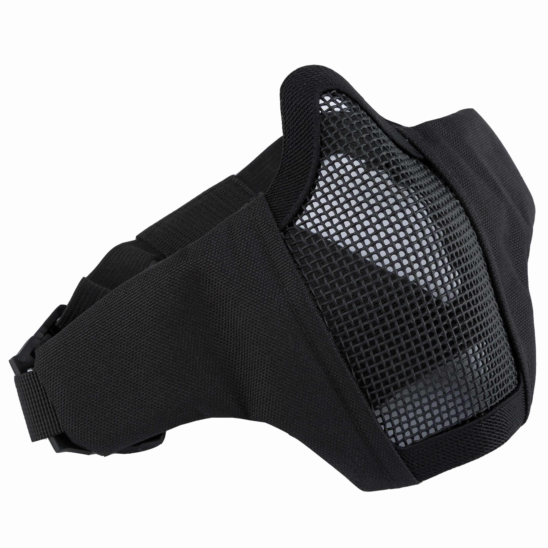 Invader Gear Gittermaske Mk.II Steel Half Face Mask schwarz