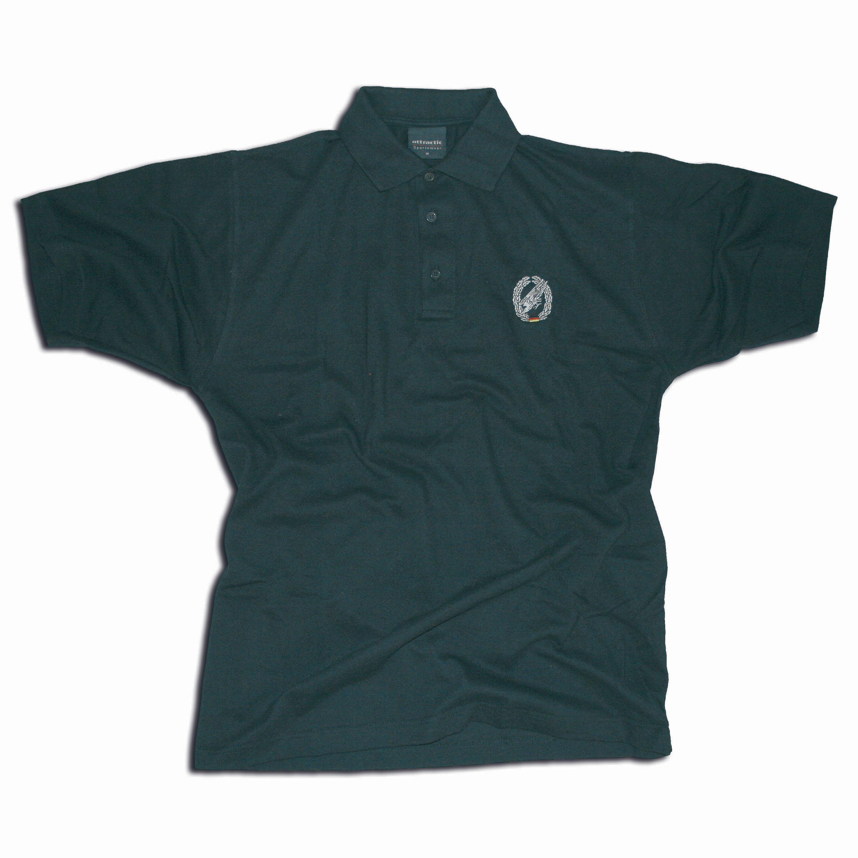 Polo-Shirt bestickt mit Barettabz. Fallschirmjäger