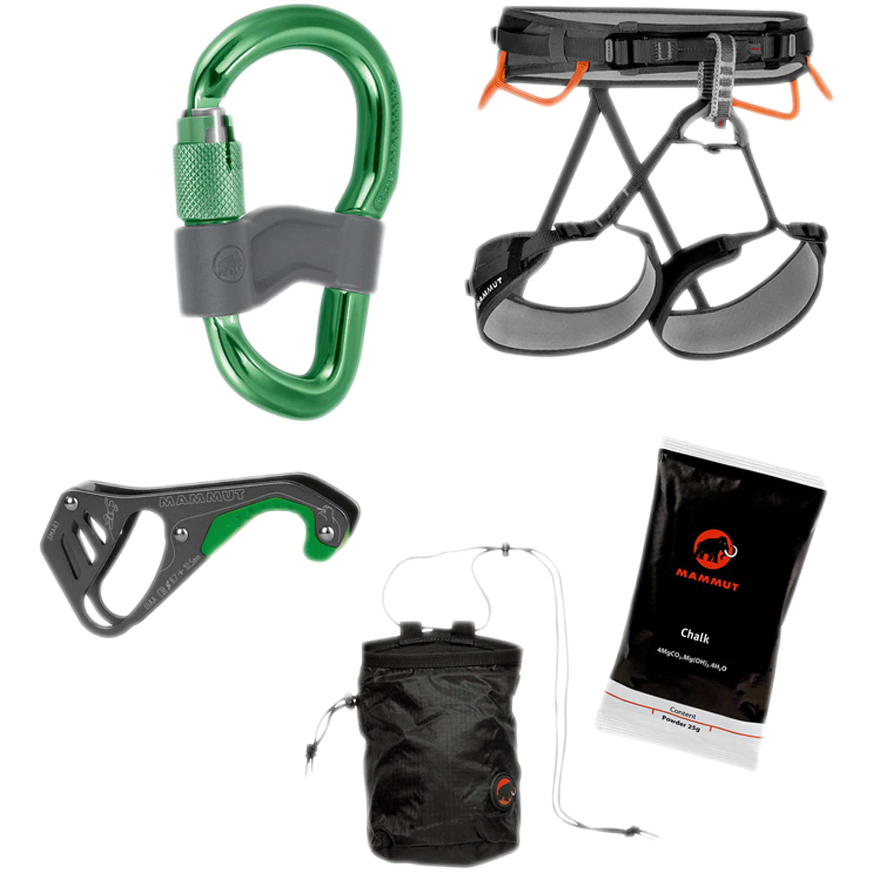 Kletterset Mammut Ophir 4 Slide Climbing Package M-XL grün-grau