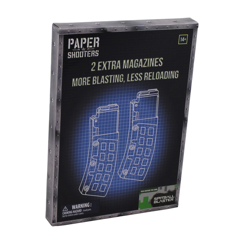Paper Shooters Ersatzmagazin Tactician Green Spit 2er Pack