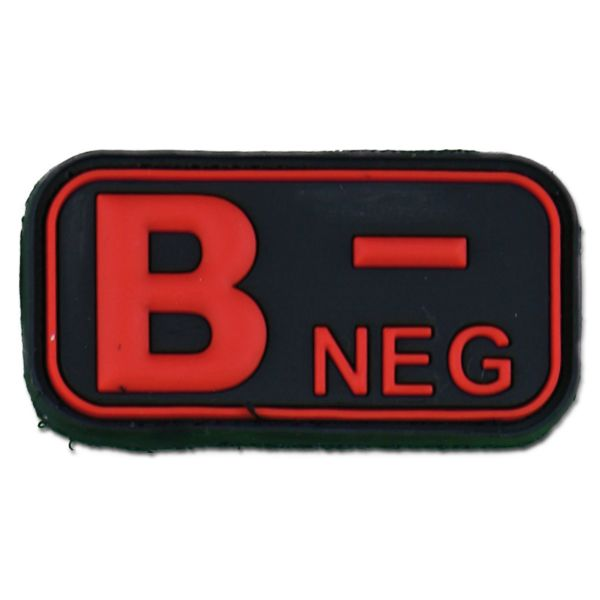 3D Blutgruppenpatch B Neg blackmedic