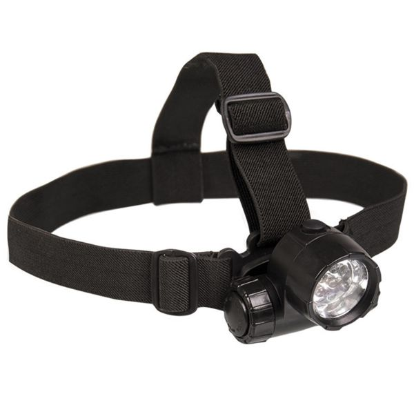 Mil-Tec Kopflampe 6 LED plus 1 schwarz