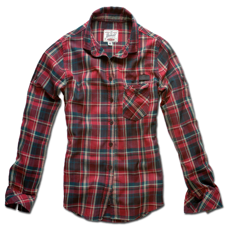 Brandit Ladies Amy Checkshirt rot