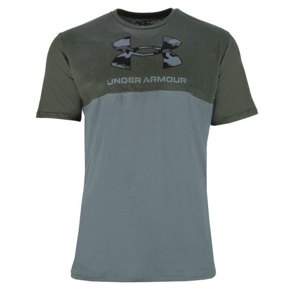 Under Armour T-Shirt Camo Big Logo SS barogue green
