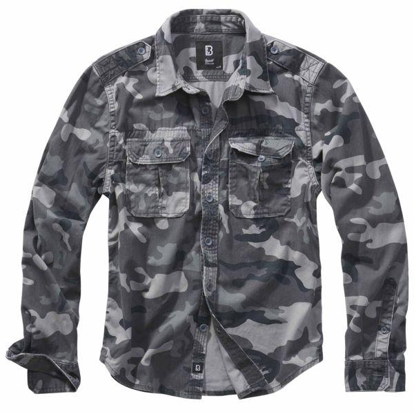 Brandit Shirt Raw Vintage Longsleeve grey camo