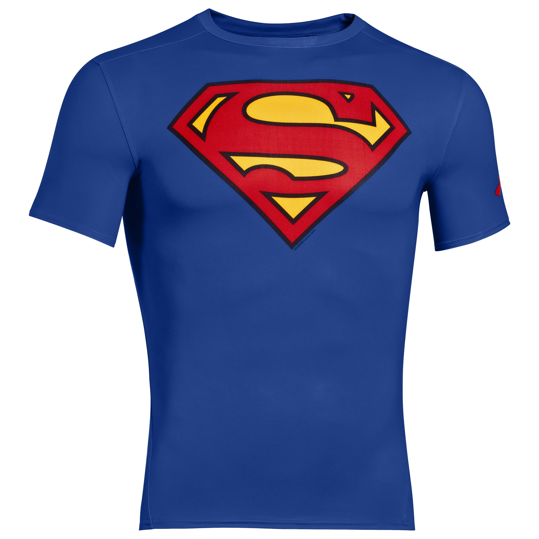 Under Armour Shirt Alter Ego Superman blau