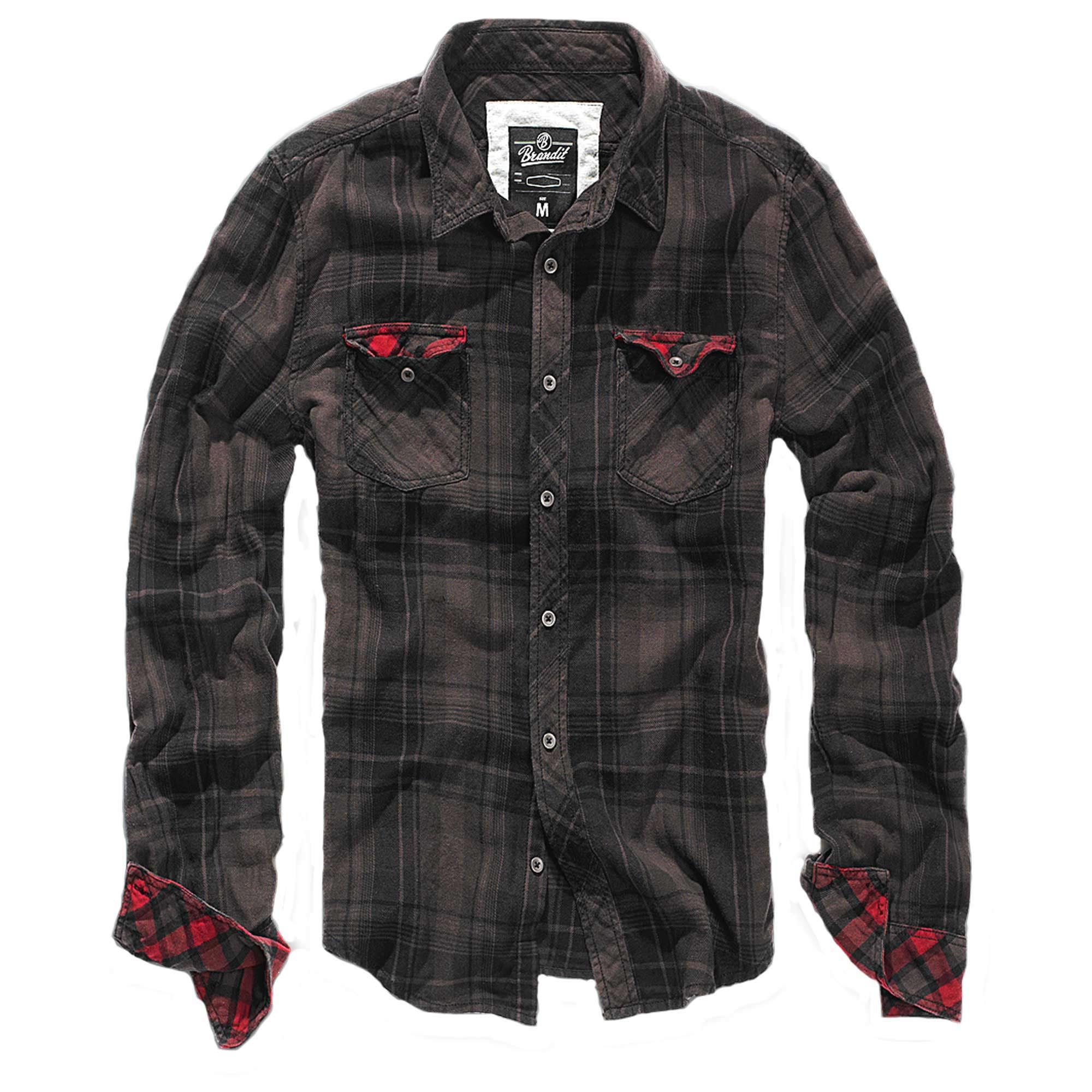 Brandit Hemd Duncan Check braun-schwarz