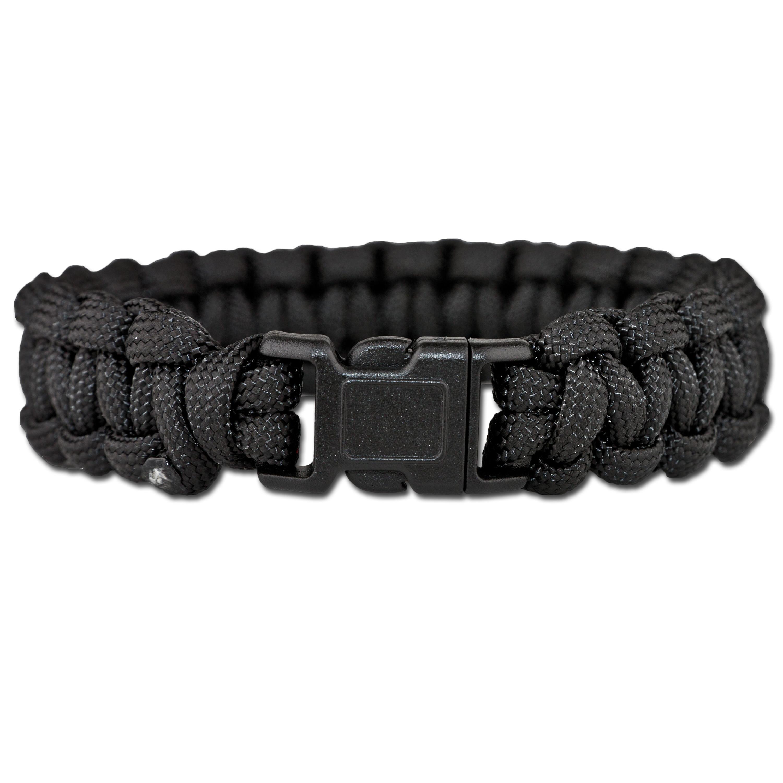 Survival Paracord Bracelet schwarz