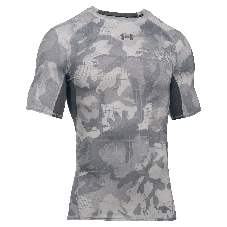 Under Armour Compression Shirt HeatGear grau camo