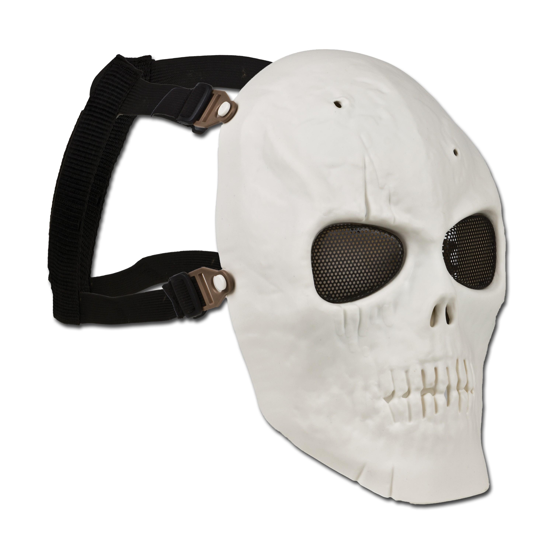 Gesichtschutz Schädelmaske Full Face weiß