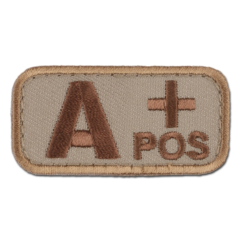 MilSpecMonkey Patch Blutgruppe A Pos desert