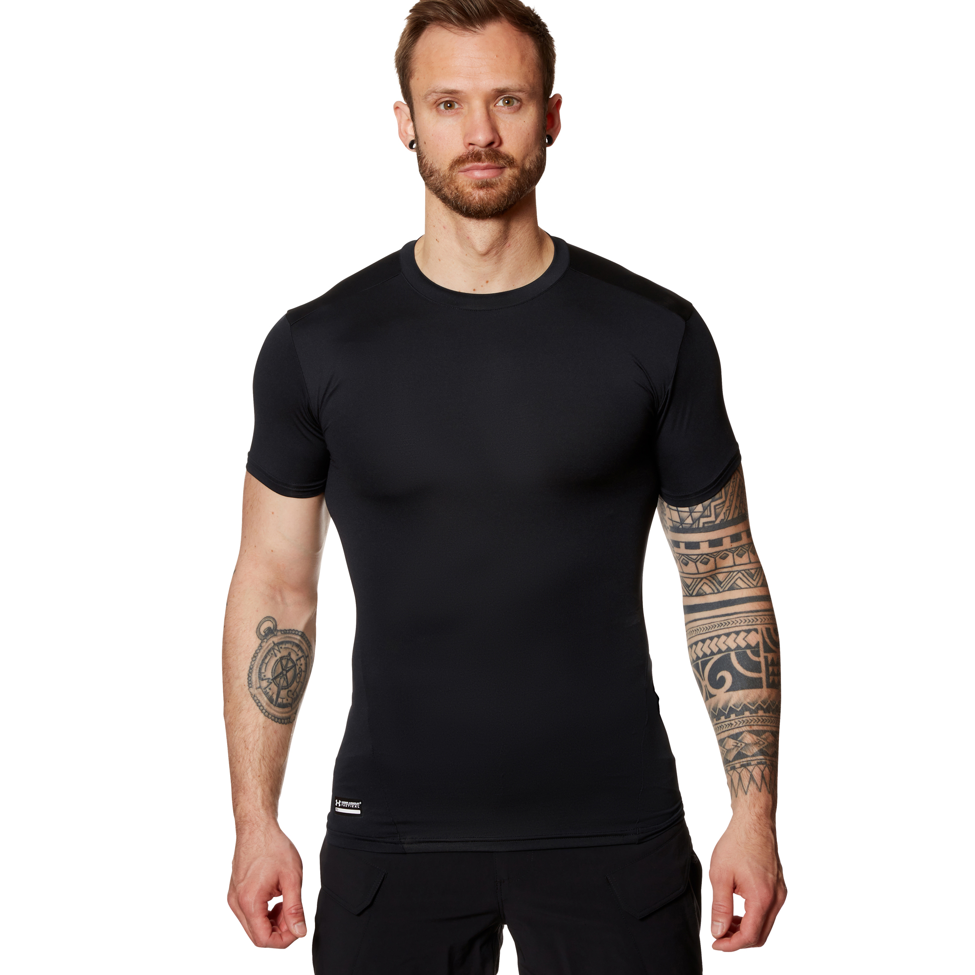 Under Armour Tactical T-Shirt HeatGear Compression schwarz
