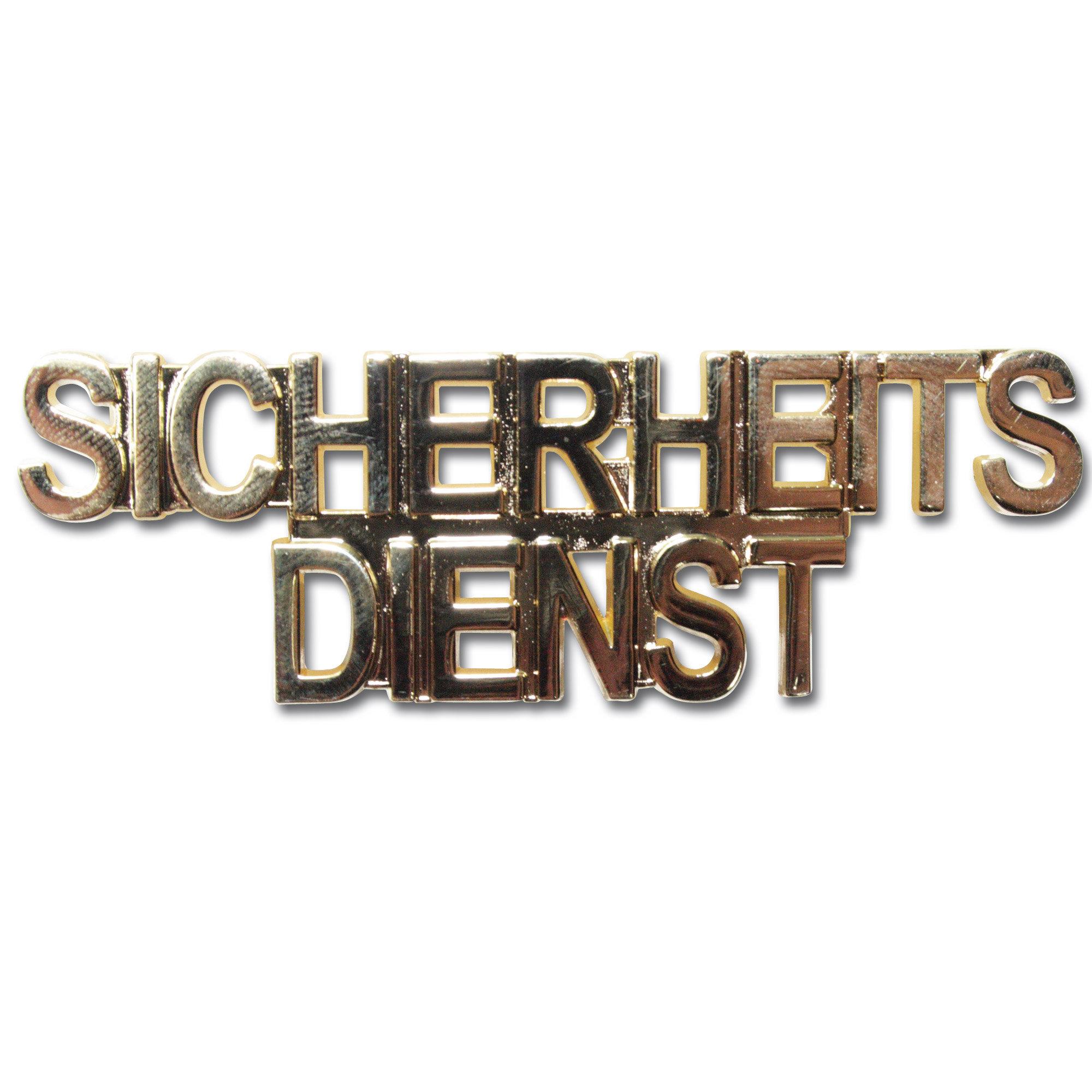 Kragenspiegel SICHERHEITSDIENST gold