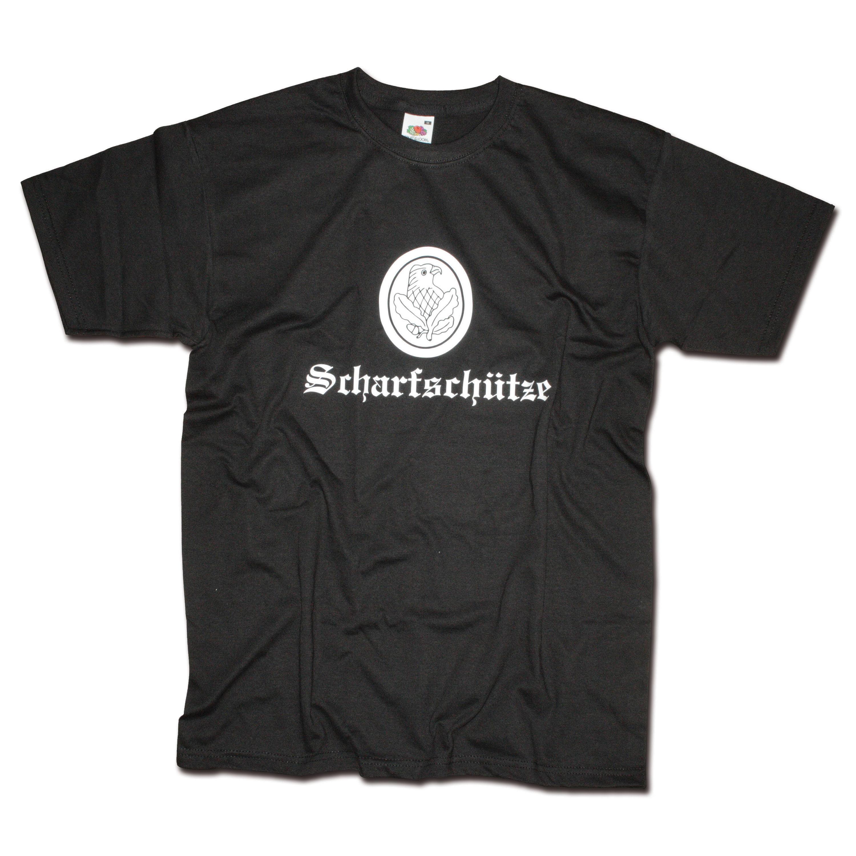 T-Shirt Milty Scharfschütze schwarz
