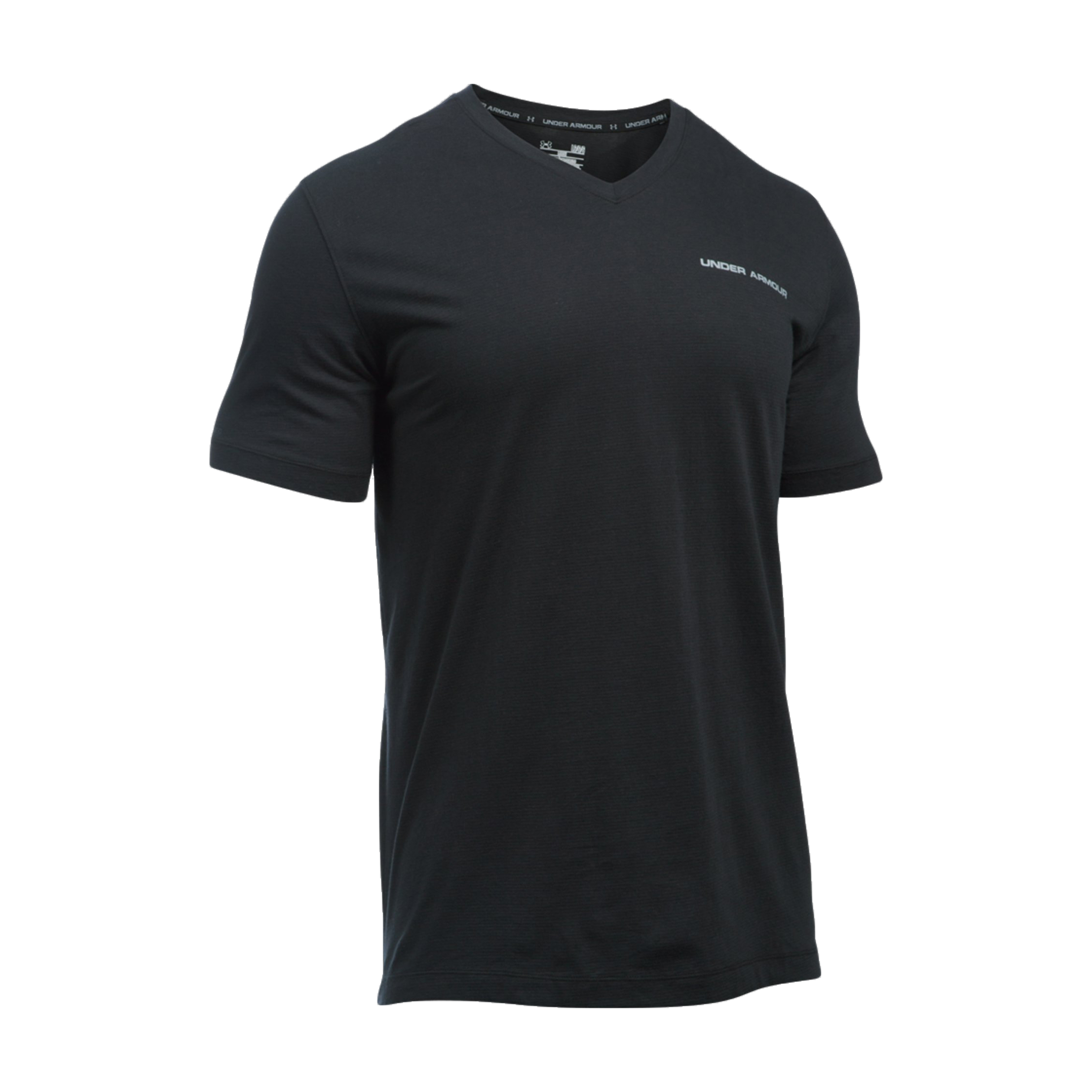 Under Armour T-Shirt V-Neck Charged Cotton schwarz