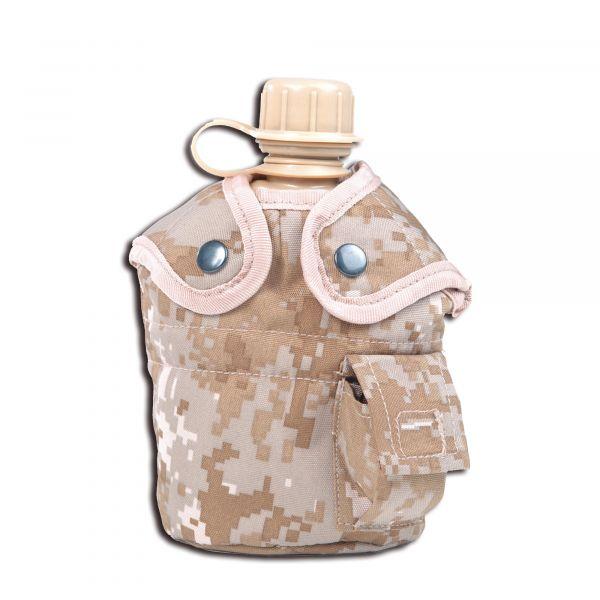 Feldflasche 1 qt. mit Becher und Hülle digital desert