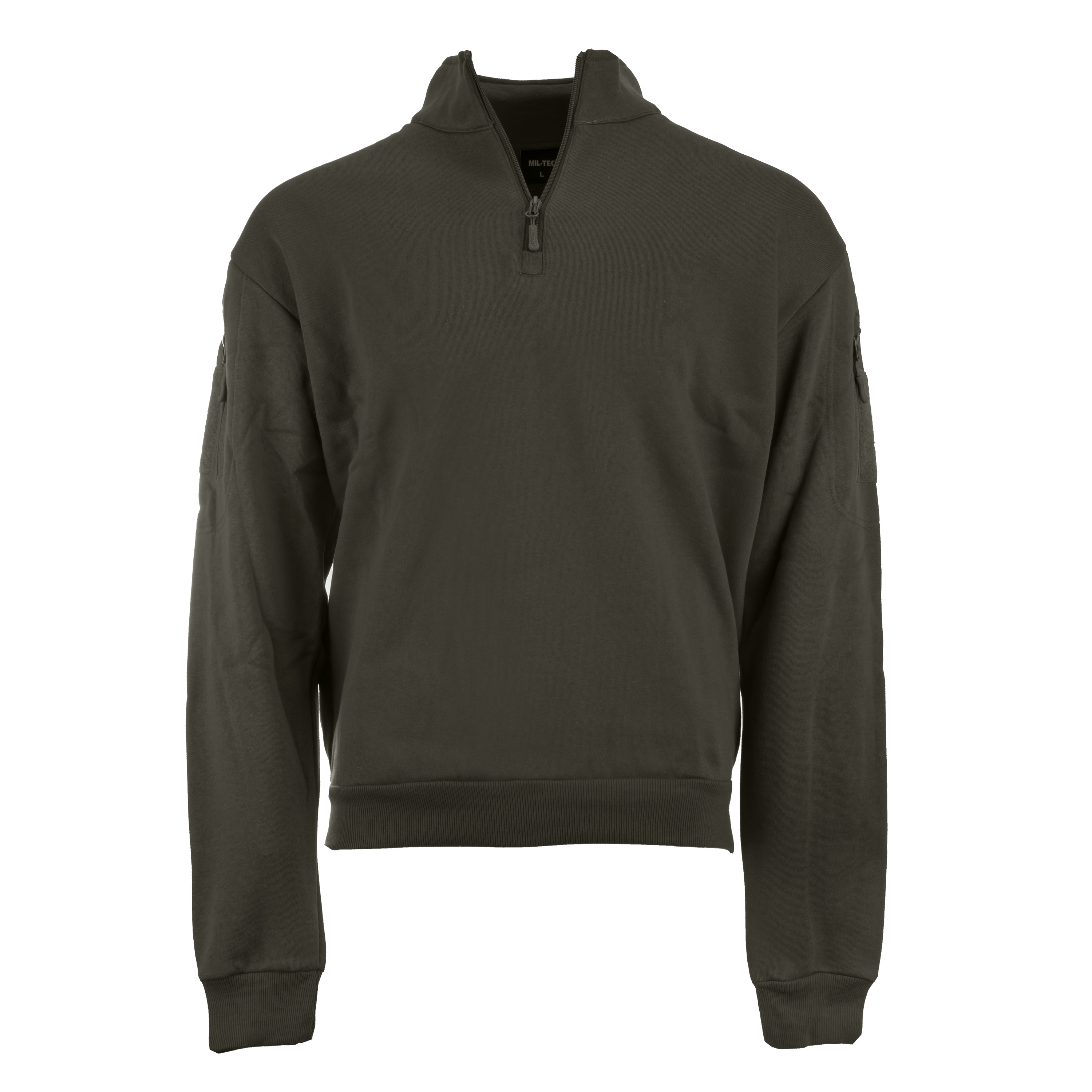 Mil-Tec Tactical Sweatshirt mit Zipper ranger green