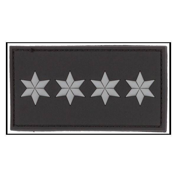 3D-Patch Dienstgradabzeichen Polizeihauptkommissar A12 schwarz