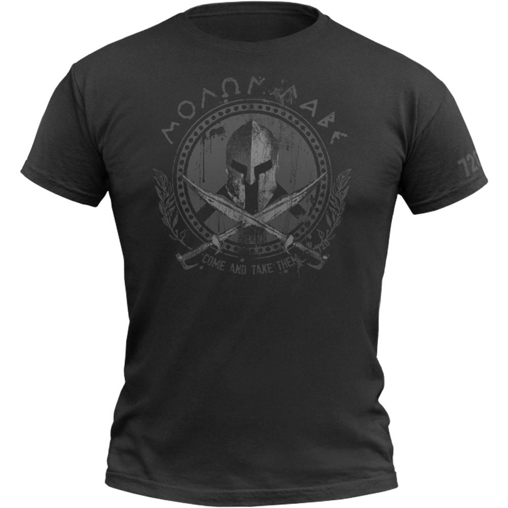 720gear T-Shirt Molon Labe schwarz