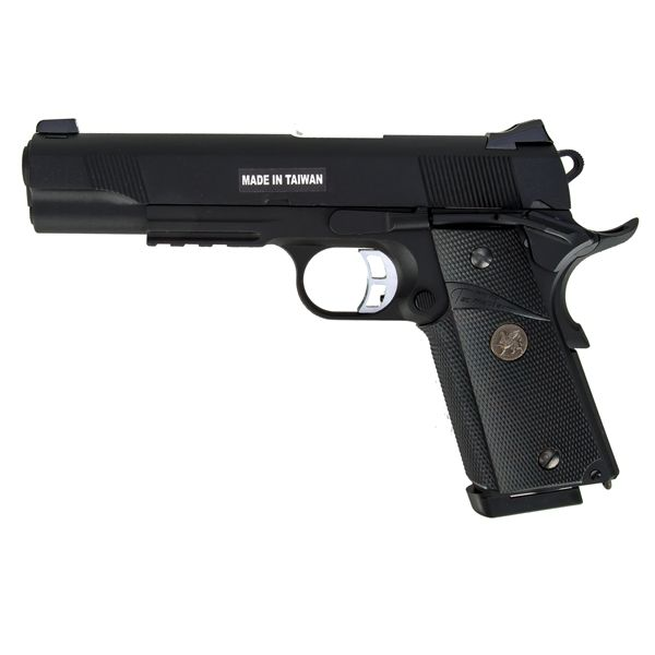 KJ Works Airsoft Pistole M1911 MEU Full Metal GBB schwarz