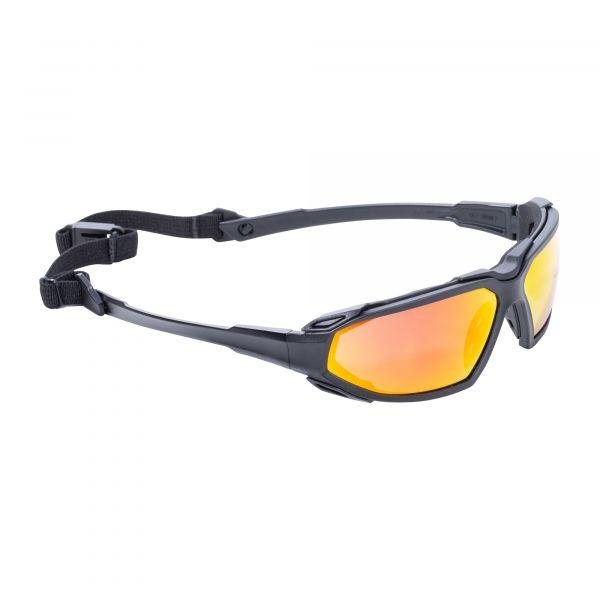 Pyramex Schutzbrille Highlander Plus Sky Red Glasses schwarz