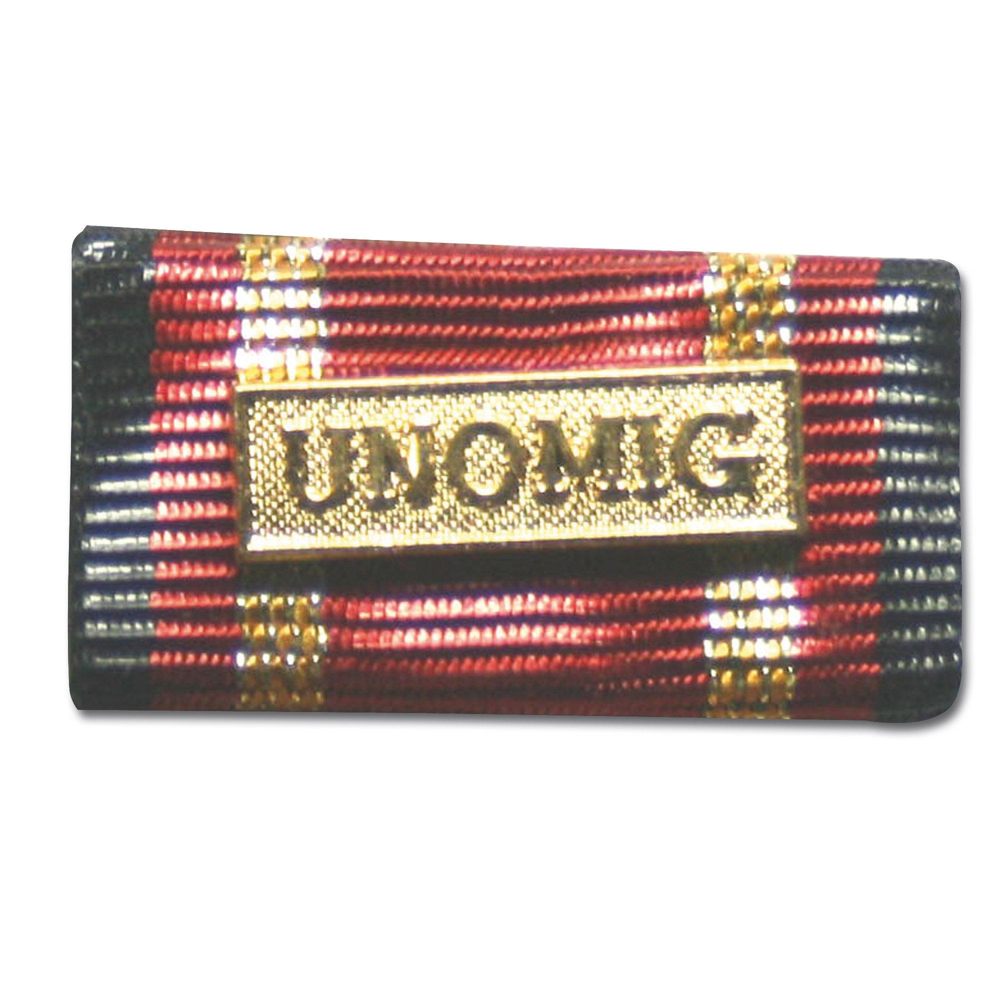 Ordensspange Auslandseinsatz UNOMIG gold