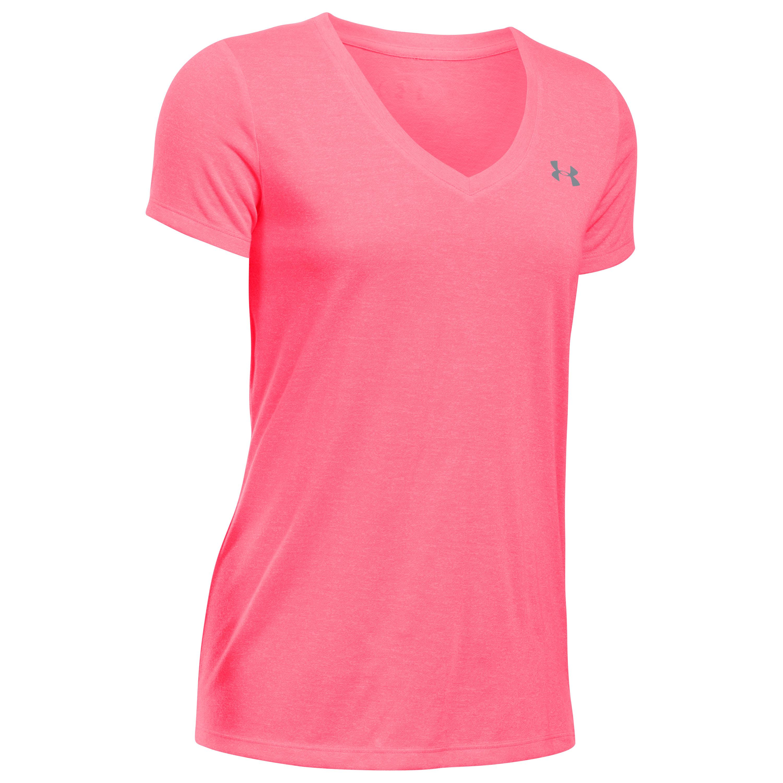 Under Armour Fitness Damen Threadborne Shirt pink