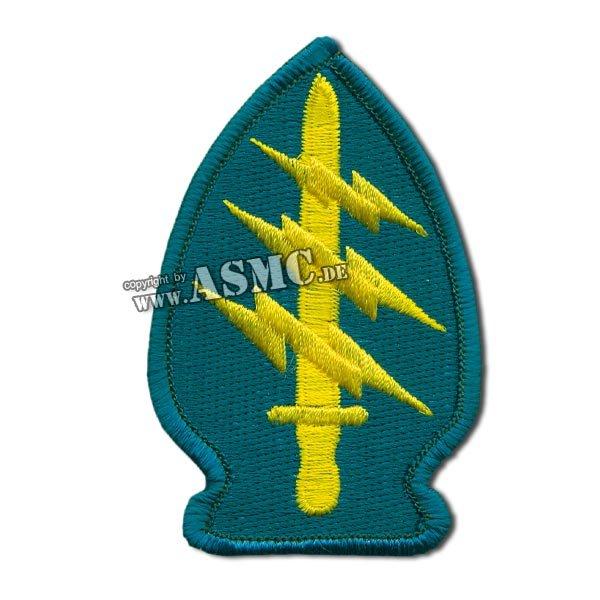 Abzeichen US Textil Special Forces blau/gelb