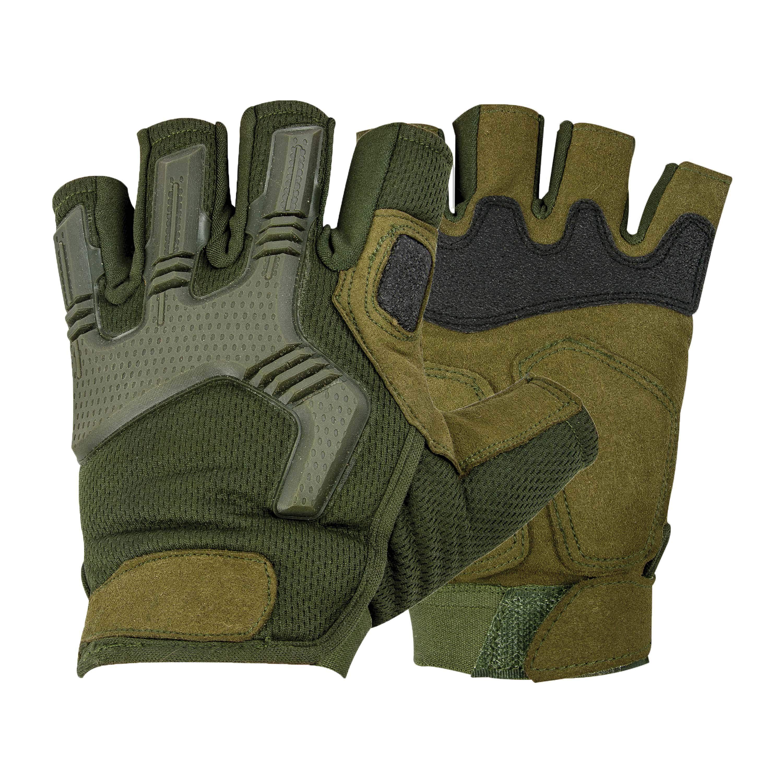 Highlander Handschuhe Halbfinger Raptor-FL oliv