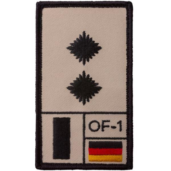 Café Viereck Rank Patch Oberleutnant sand