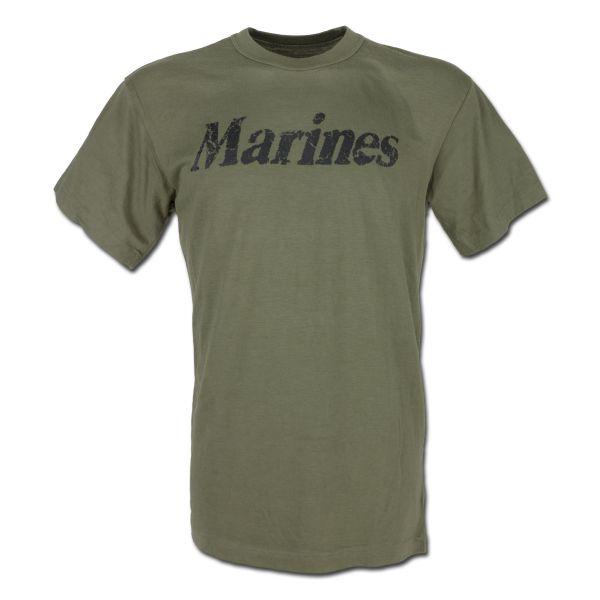 T-Shirt Rothco Marines oliv