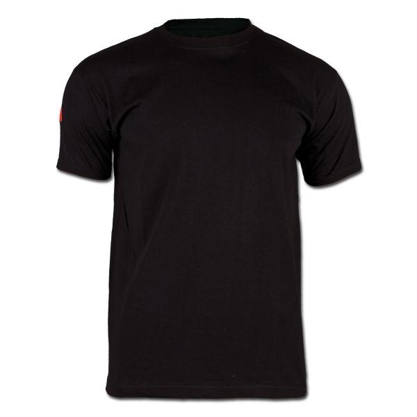 T-Shirt mit Hoheitsabzeichen Frankreich schwarz