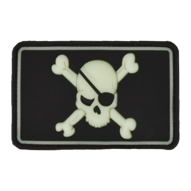 3D-Patch Pirate Skull nachleuchtend
