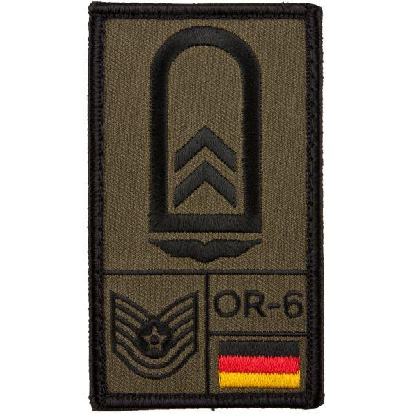 Café Viereck Rank Patch Oberfeldwebel Luftwaffe oliv