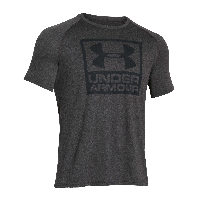 Under Armour T-Shirt Tech Boxed Logo grau meliert