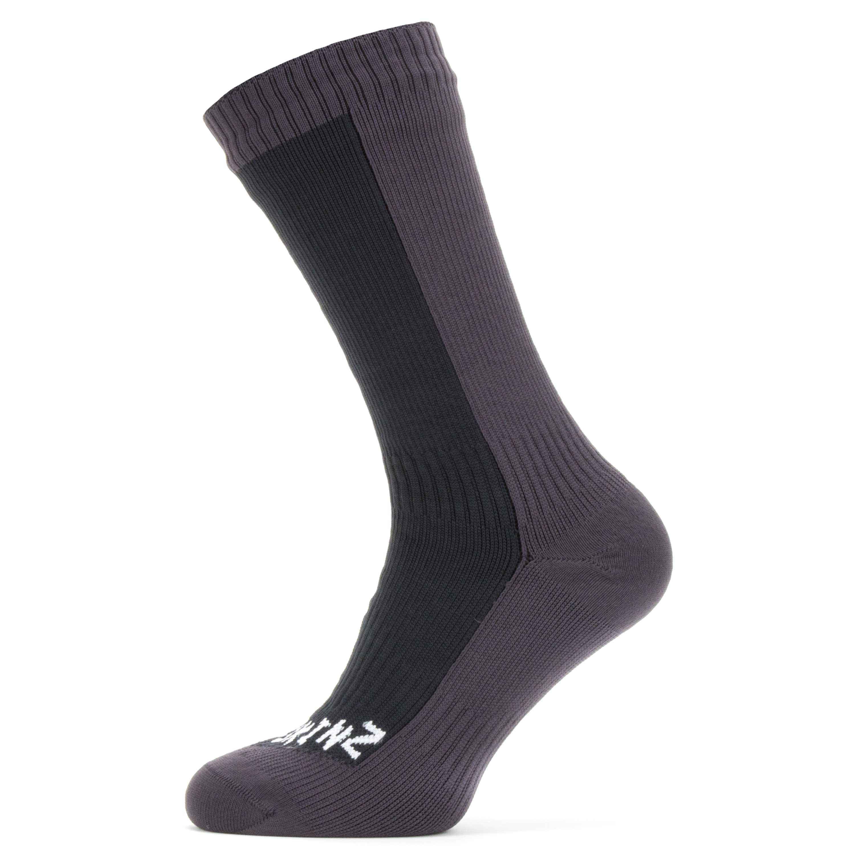 Sealskinz Socken Waterproof Cold Weather Mid Length schwarz grau