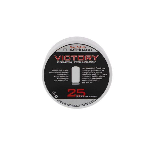 Victory Platzpatronen Flashbang cal. 9 mm P.A.K. 25 St.