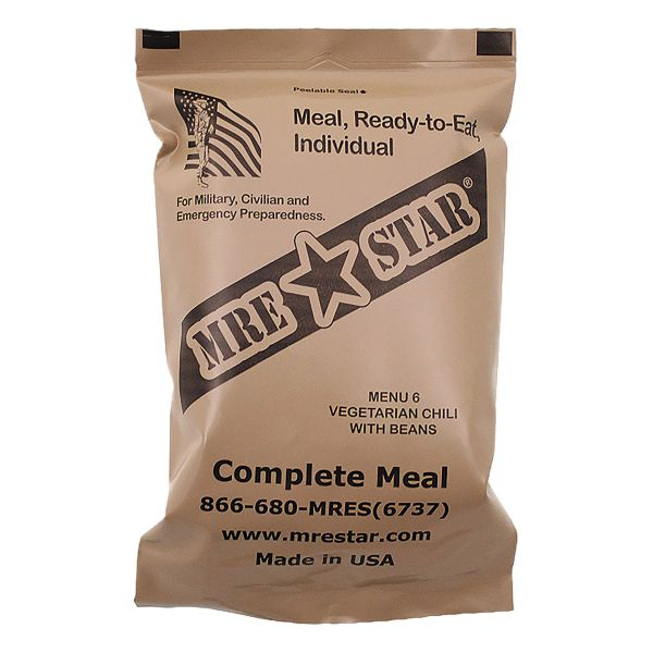 MRE Star Ready to Eat Menü Vegetarisches Chili