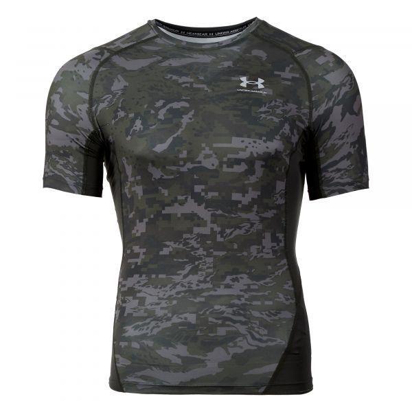 Under Armour Shirt HG Armour Camo Comp Print SS baroque green