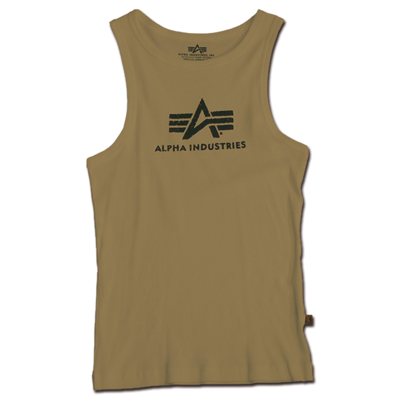 Tank Top Alpha Logo oliv/schwarz