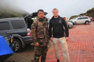 on the 3000m mountain